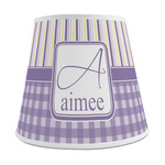 Purple Gingham & Stripe Empire Lamp Shade (Personalized)
