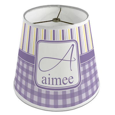 Purple Gingham & Stripe Empire Lamp Shade (Personalized)