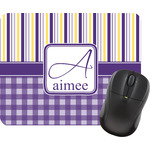 Purple Gingham & Stripe Mouse Pads (Personalized)