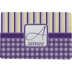 Purple Gingham & Stripe Comfort Mat (Personalized)
