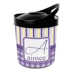 Purple Gingham & Stripe Plastic Ice Bucket (Personalized)