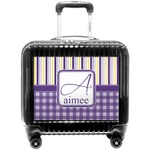 Purple Gingham & Stripe Pilot / Flight Suitcase (Personalized)