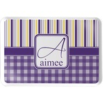 Purple Gingham & Stripe Serving Tray (Personalized)