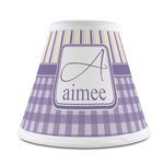 Purple Gingham & Stripe Chandelier Lamp Shade (Personalized)