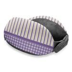 Purple Gingham & Stripe Travel Neck Pillow