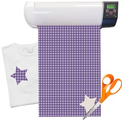 "Purple Gingham & Stripe Heat Transfer Vinyl Sheet (12""x18"")"