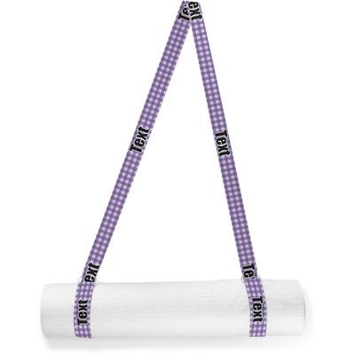 Purple Gingham & Stripe Yoga Mat Strap (Personalized)