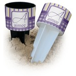 Purple Gingham & Stripe Beach Spiker Drink Holder (Personalized)