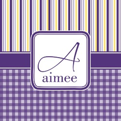 Purple Gingham & Stripe