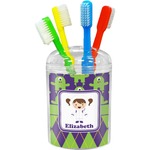 Astronaut, Aliens & Argyle Toothbrush Holder (Personalized)