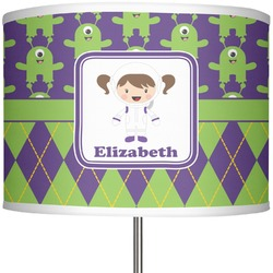 "Astronaut, Aliens & Argyle 13"" Drum Lamp Shade (Personalized)"