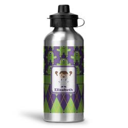 Astronaut, Aliens & Argyle Water Bottle - Aluminum - 20 oz (Personalized)