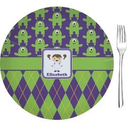 """Astronaut, Aliens & Argyle Glass Appetizer / Dessert Plates 8"""" - Single or Set (Personalized)"""