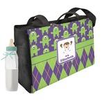 Astronaut, Aliens & Argyle Diaper Bag (Personalized)