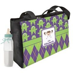 Astronaut, Aliens & Argyle Diaper Bag (Personalized)