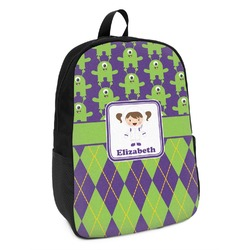 Astronaut, Aliens & Argyle Kids Backpack (Personalized)