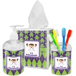 Astronaut, Aliens & Argyle Bathroom Accessories Set (Personalized)