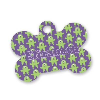 Astronaut, Aliens & Argyle Bone Shaped Dog Tag (Personalized)