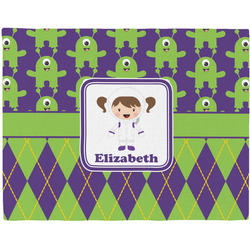Astronaut, Aliens & Argyle Placemat (Fabric) (Personalized)