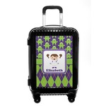 Astronaut, Aliens & Argyle Carry On Hard Shell Suitcase (Personalized)