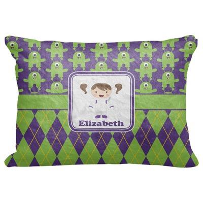 "Astronaut, Aliens & Argyle Decorative Baby Pillowcase - 16""x12"" (Personalized)"