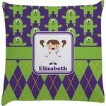 Astronaut, Aliens & Argyle Decorative Pillow Case (Personalized)