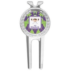 Astronaut, Aliens & Argyle Golf Divot Tool & Ball Marker (Personalized)