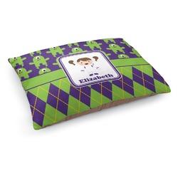 Astronaut, Aliens & Argyle Dog Pillow Bed (Personalized)