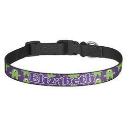 Astronaut, Aliens & Argyle Dog Collar (Personalized)