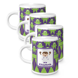 Astronaut, Aliens & Argyle Espresso Mugs - Set of 4 (Personalized)