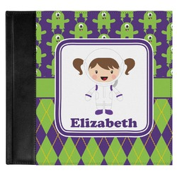 Astronaut, Aliens & Argyle Genuine Leather Baby Memory Book (Personalized)