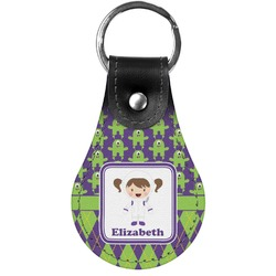 Astronaut, Aliens & Argyle Genuine Leather  Keychain (Personalized)