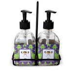 Astronaut, Aliens & Argyle Soap & Lotion Dispenser Set (Glass) (Personalized)