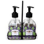 Astronaut, Aliens & Argyle Soap & Lotion Dispenser Set (Glass) (Personalized)