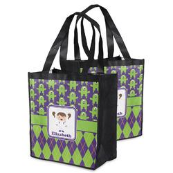 Astronaut, Aliens & Argyle Grocery Bag (Personalized)