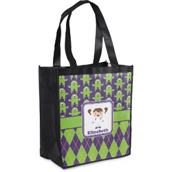 Astronaut, Aliens & Argyle Grocery Bag (Personalized)