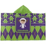 Astronaut, Aliens & Argyle Kids Hooded Towel (Personalized)