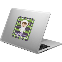 Astronaut, Aliens & Argyle Laptop Decal (Personalized)