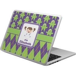 Astronaut, Aliens & Argyle Laptop Skin - Custom Sized (Personalized)