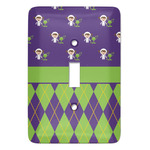 Astronaut, Aliens & Argyle Light Switch Cover (Single Toggle) (Personalized)