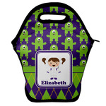 Astronaut, Aliens & Argyle Lunch Bag w/ Name or Text