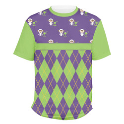 Astronaut, Aliens & Argyle Men's Crew T-Shirt (Personalized)