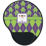 Astronaut, Aliens & Argyle Mouse Pad with Wrist Support