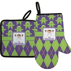 Astronaut, Aliens & Argyle Oven Mitt & Pot Holder (Personalized)