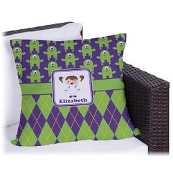 Astronaut, Aliens & Argyle Outdoor Pillow (Personalized)