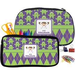 Astronaut, Aliens & Argyle Pencil / School Supplies Bag (Personalized)