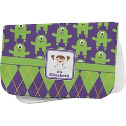 Astronaut, Aliens & Argyle Burp Cloth (Personalized)