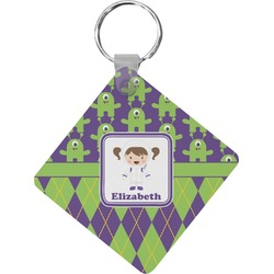 Astronaut, Aliens & Argyle Diamond Key Chain (Personalized)