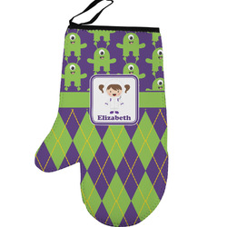 Astronaut, Aliens & Argyle Left Oven Mitt (Personalized)