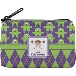 Astronaut, Aliens & Argyle Rectangular Coin Purse (Personalized)